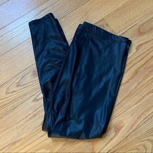 Never worn H&M faux leather leggings